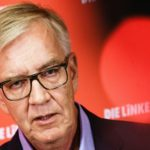 he Left party (Die Linke) faction co-chairman in the German parliament Bundestag and top candidate for the upcoming Federal Elections Dietmar Bartsch speaks during a press conference at the party's headquarters in Berlin, Germany, 6 September 2021.
